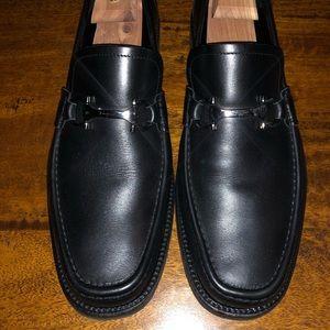 Salvatore Ferragamo Blk Leather Shoes Sz 10EE